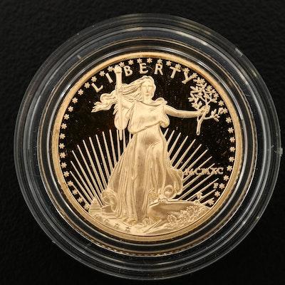 1990-P 1/4 Oz. $10 Gold Eagle Proof Bullion Coin