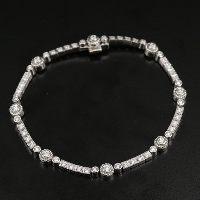 18K 1.04 CTW Diamond Bracelet