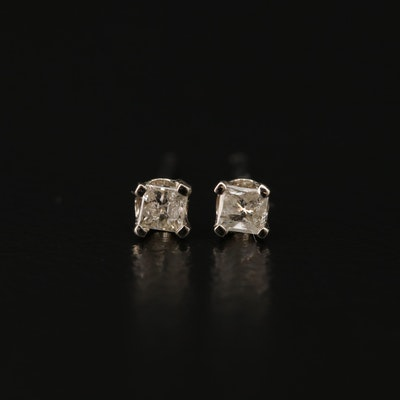 14K Gold 0.12 CTW Diamond Stud Earrings
