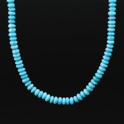 14K Single Strand Turquoise Necklace