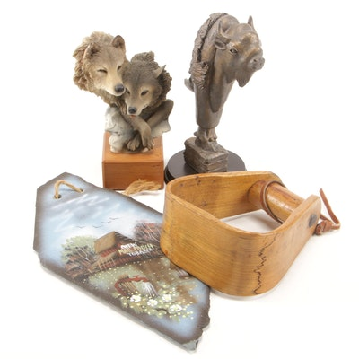 Mill Creek Studios Resin Wolf Figurine and Other Décor