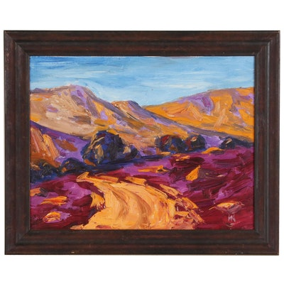 Mark Kazav Mountain Landscape Oil Painting