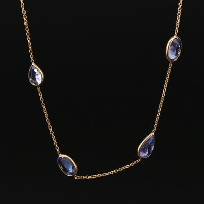 14K Tanzanite Station Necklace