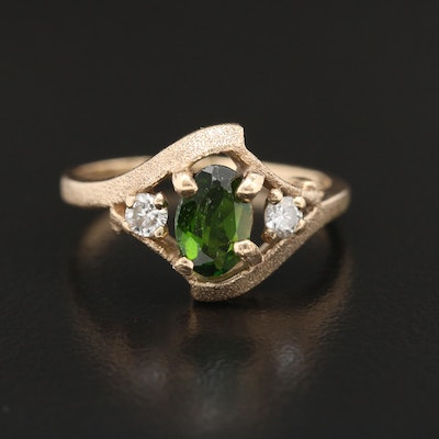 10K Tourmaline and Diamond Ring