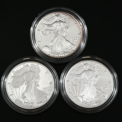 2006 U.S. Mint American Eagle 20th Anniversary Silver 3-Coin Set