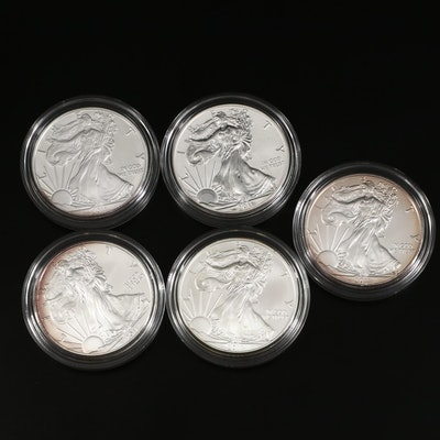 2011 U.S. Mint American Eagle 25th Anniversary Silver Five-Coin Set