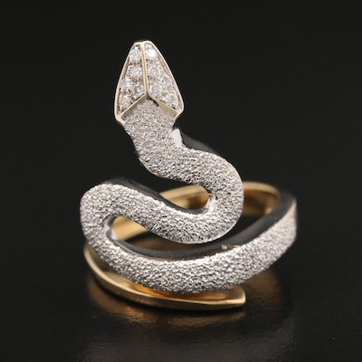 18K Diamond Serpent Ring