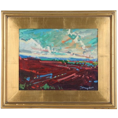 "Jose Trujillo Oil Painting ""Desert Hues"", 2014"