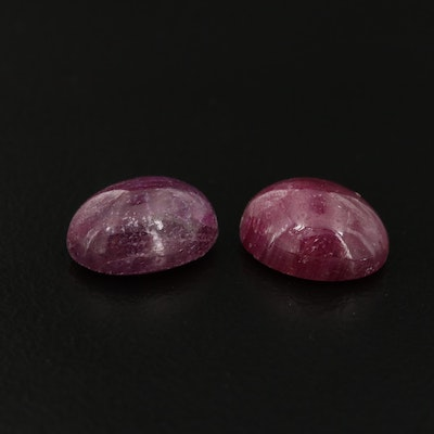 Loose 7.74 CTW Ruby Cabochons