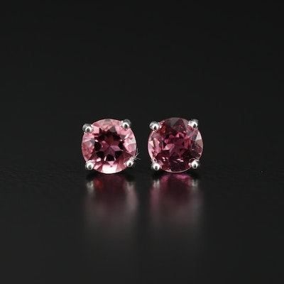 Sterling Tourmaline Stud Earrings