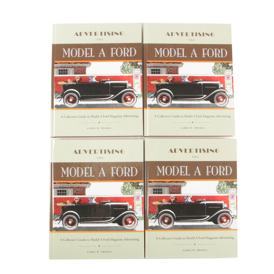 """""""Advertising The Model A Ford"""" Books Signed by Author James Thomas, 2008"""