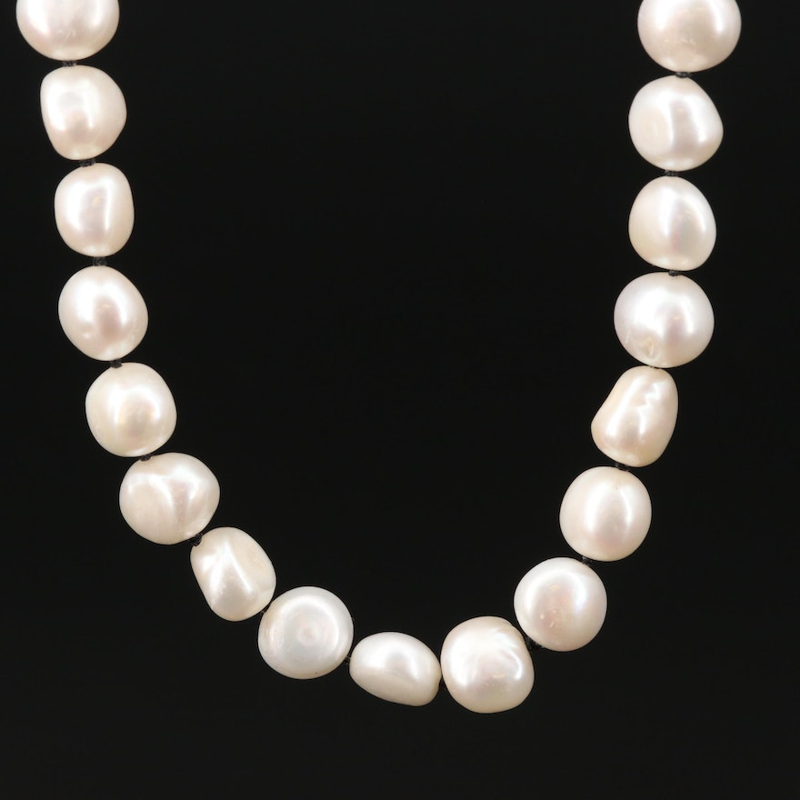 14K Gold Cultured Pearl Knotted Necklace