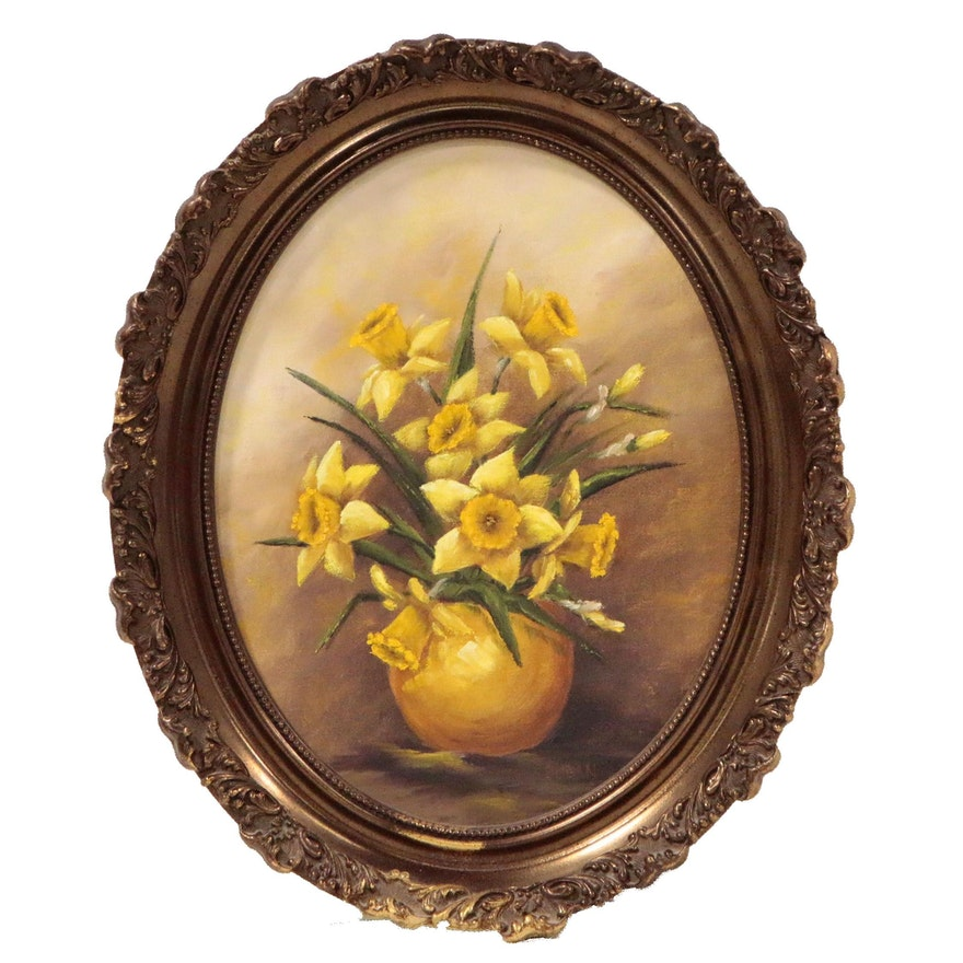 Dugan Still Life Oil Painting of Daffodils
