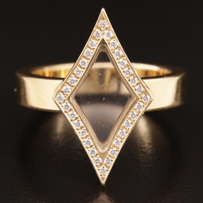 Chopard 18K Gold Diamond and Sapphire Crystal Ring