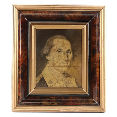George Washington Portrait Print, Framed