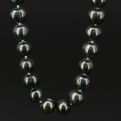 14K Pearl Single Strand Necklace