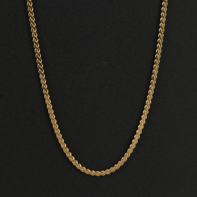 Uno-A-Erre 14K Serpentine Chain