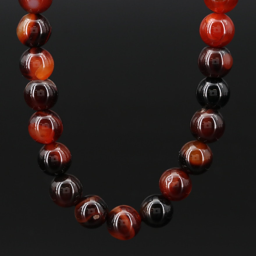 14K Agate Bead Necklace