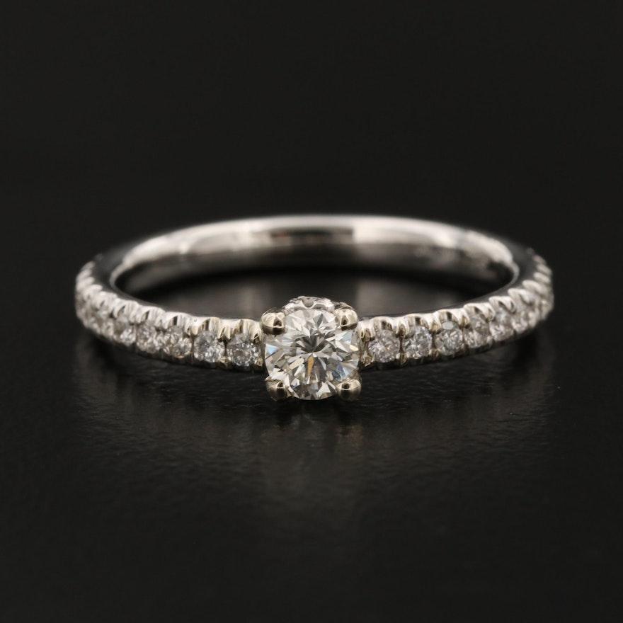 18K 0.58 CTW Diamond Ring
