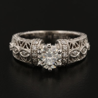 18K White Gold 1.25 CTW Diamond Ring