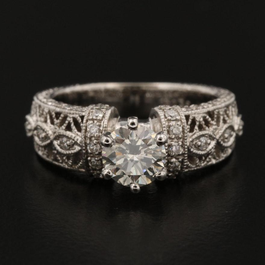 18K White Gold 1.25 CTW Diamond Ring