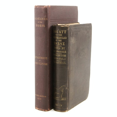 "1851 ""Youatt on the Structure and the Diseases of the Horse"" with Other"