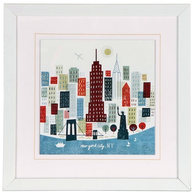 """Offset Lithograph After Michael Mullan """"New York City, NY"""""""