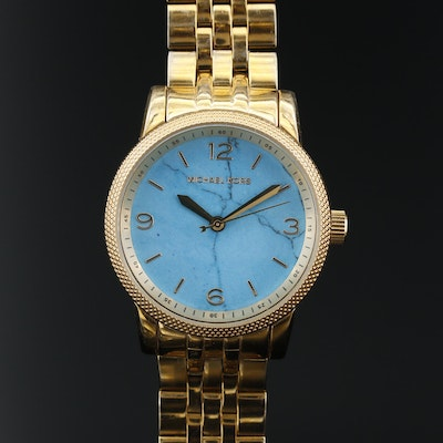 Michael Kors Turquoise Dial Stainless Steel Wristwatch