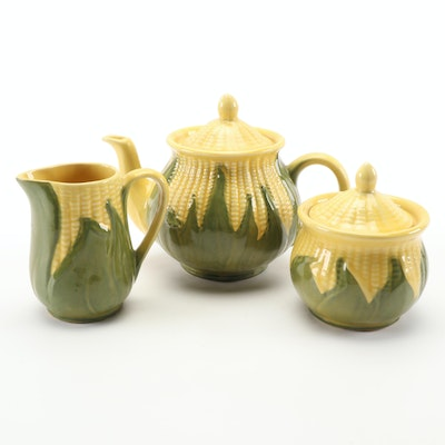 "Shawnee Pottery ""Corn King"" Ceramic Tea Set, 1946–1954"