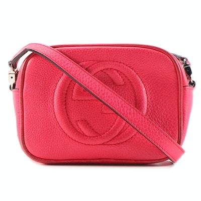Gucci Children's Soho Mini Hot Pink Grained Leather Crossbody Bag