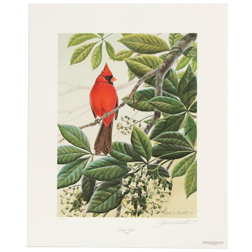 "John Ruthven Offset Lithograph ""Early Bird"", 1989"