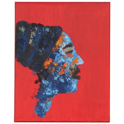 "Oluwakemi Omowaire Oil Painting ""Woman"", 2020"