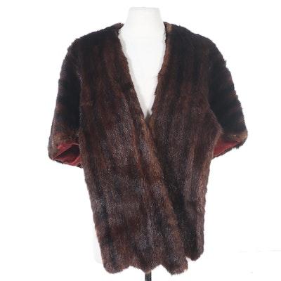 Dyed Mahogany Marmot Fur Stole, Mid-20th Century