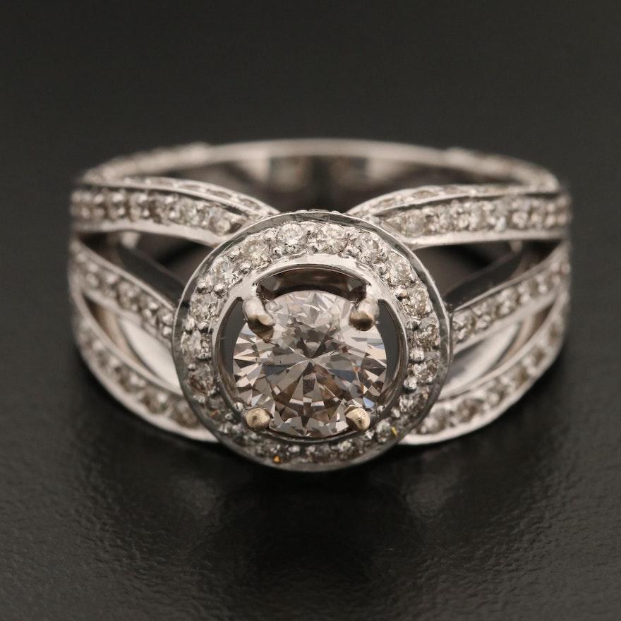 18K Gold 2.93 CTW Diamond Ring