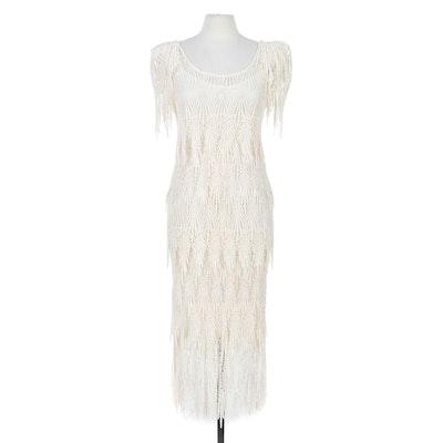 Henri Bendel Fancy Crochet Lace Sheath Dress