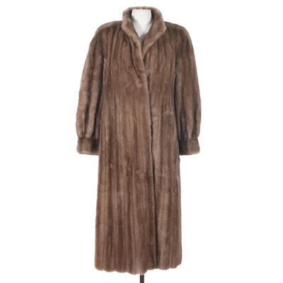 Light Brown Mink Coat with Banded Cuffs from The Christie Brothers, Vintage
