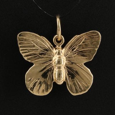 14K Butterfly Charm