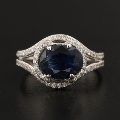 Gabriel & Co. 14K Sapphire and Diamond Ring