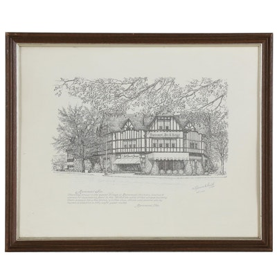 "Geneva South Lithograph ""Mariemont Inn"", 1979"