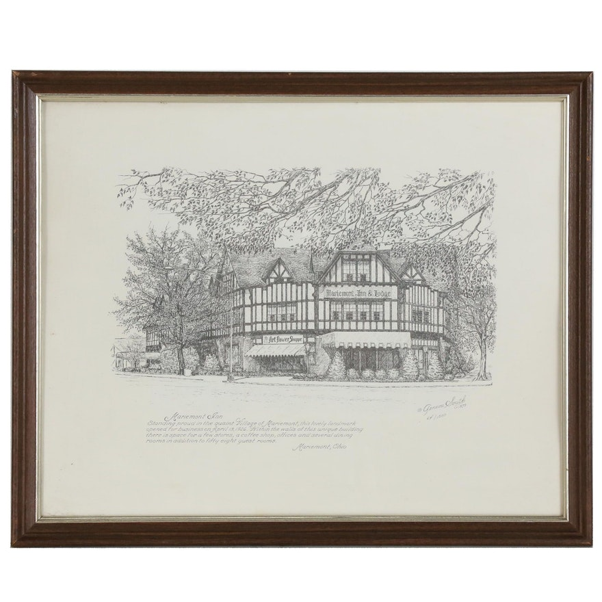 "Geneva South Lithograph ""Mariemont Inn"", 1979"