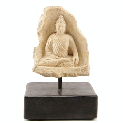 Thailand Carved Stone Sculpture of Buddha, Late 20th Century