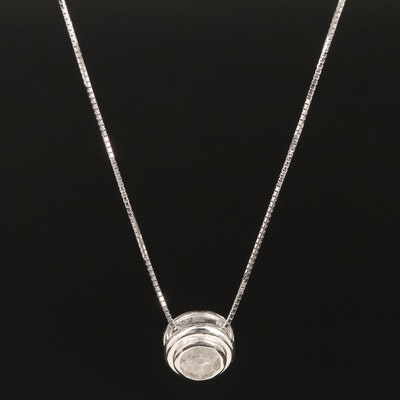 14K 0.67 CT Diamond Pendant Necklace