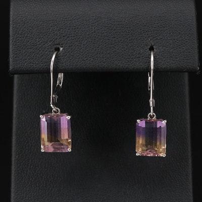 Sterling Ametrine Dangle Earrings
