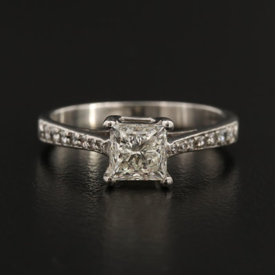 D'Oro 14K 1.32 CTW Diamond Ring