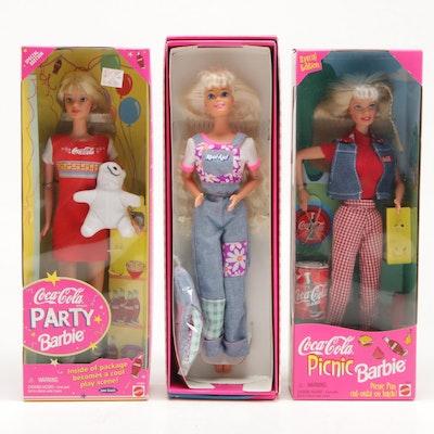 Mattel Coca-Cola and Kool-Aid Barbie Dolls in Original Packaging