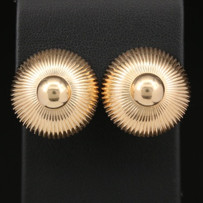 1950s George Schuler for Tiffany & Co 14K Button Clip-On Earrings