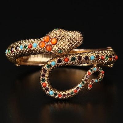 Graziano Coiled Serpent Cuff