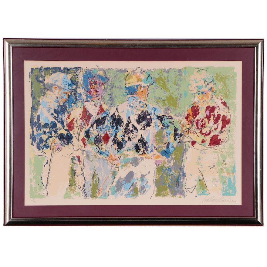 "LeRoy Neiman Serigraph ""Four Jockeys"", 1974"