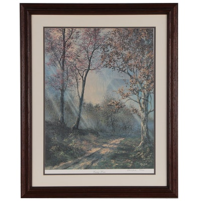 """Robert Bush Limited Edition Offset Lithograph """"Coming Home"""", Late 20th Century"""