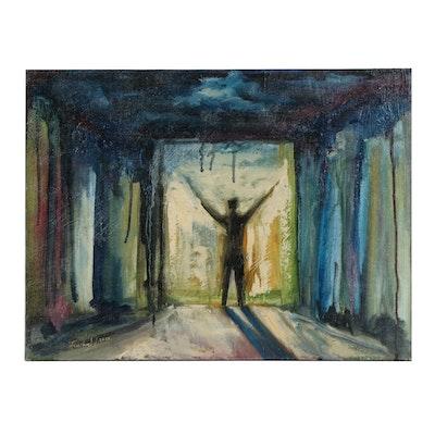 """Farshad Lanjani Oil Painting """"Freedom"""", 2015"""